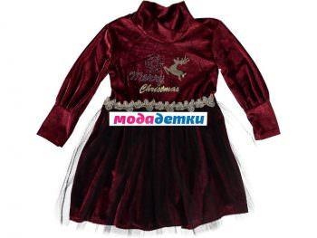 платье новогоднее 3-4-5 лет (велюр)