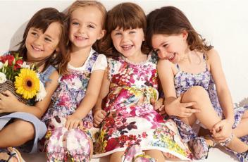 Трикотажные детские платья мода детки